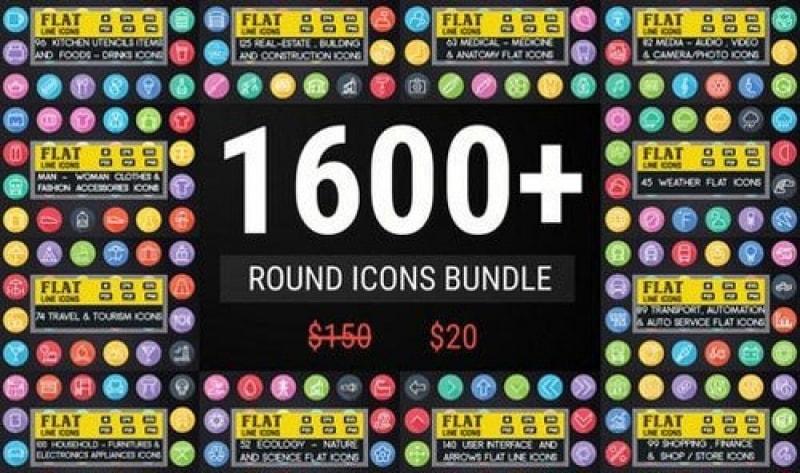 Chia sẻ 1600 icon dạng tròn theo phong cách thiết kế phẳng