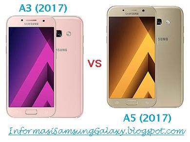 Harga dan Spesifikasi Samsung A3 (2017) vs A5 (2017)