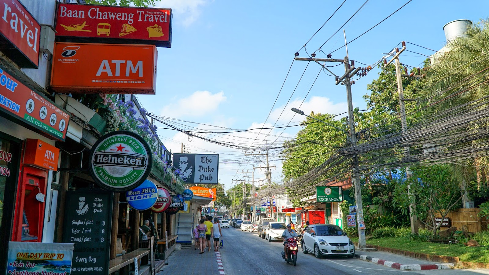Chaweng Beach Road. On the way back to my hostel