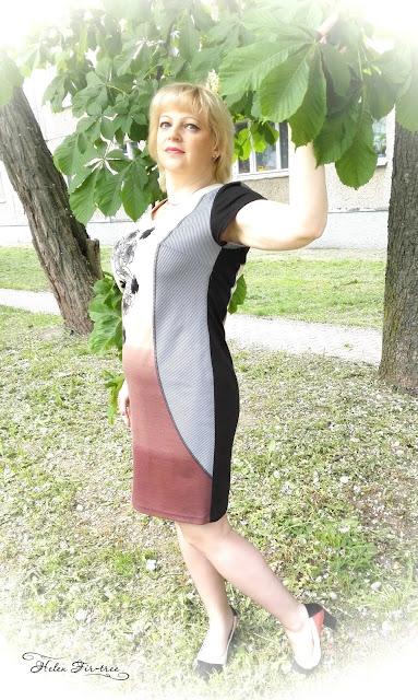 Helen Fir-tree Sew Dress apple blossoms шитьё платье яблоневый цвет