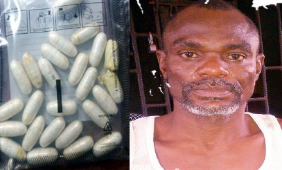 man excretes 25 wraps cocaine mmia