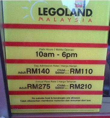Lapan X Lapan: Harga Tiket Legoland Malaysia