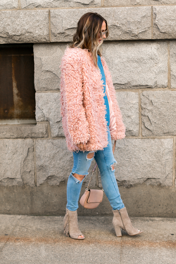 pink winter coat style parlor girl