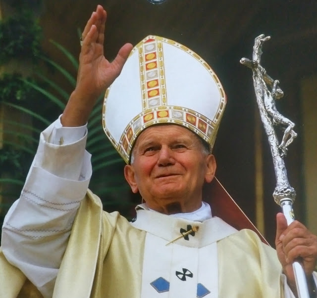 Saint Pope John Paul II in Krakow, Poland, September 13, 1991
