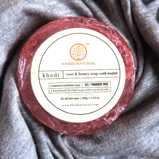 Khadi Rose and Honey Soap with Loofah