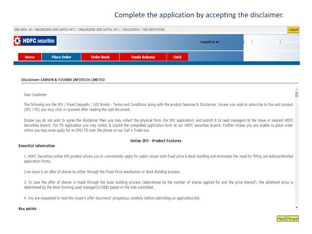 Apply ipo through hdfc internet banking