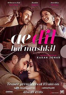 Ae Dil Hai Mushkil 2016 Full Movie DOWNLOAD 700MB UPDATED LINKS