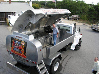 Oil Truck Converted Into a Gas Grill