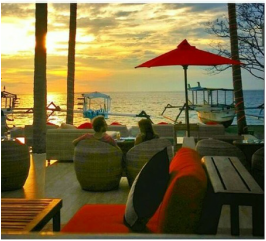 sunset di Verve Beach Club