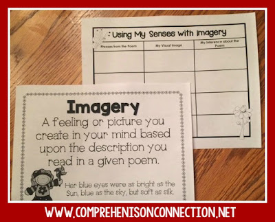 Teach sensory words and imagery with this anchor chart and sorting FREEBIE.