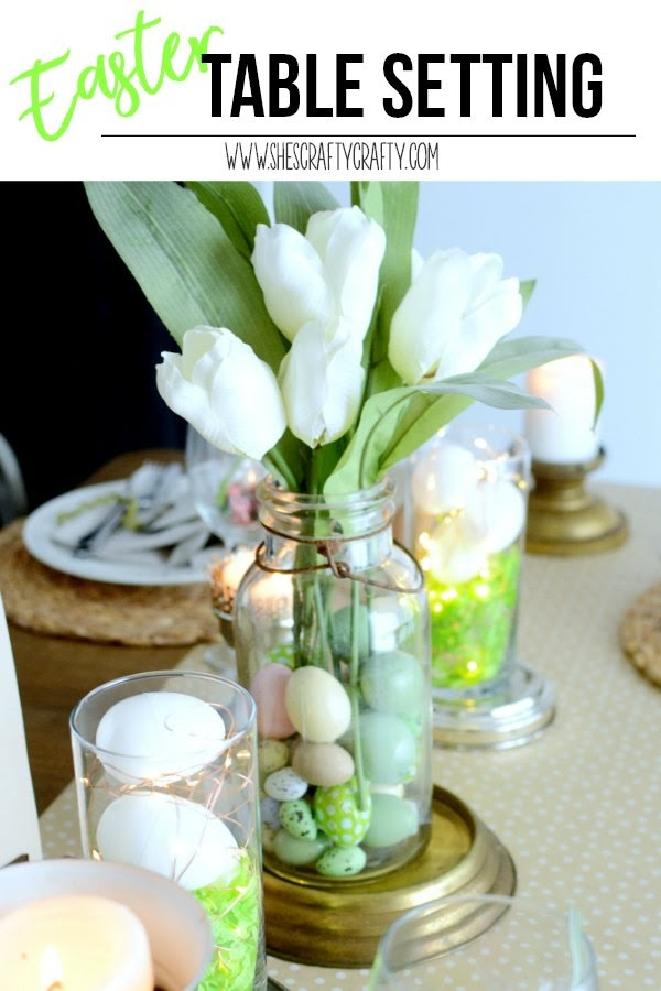 How to decorate your Easter Table with repurposed metal items