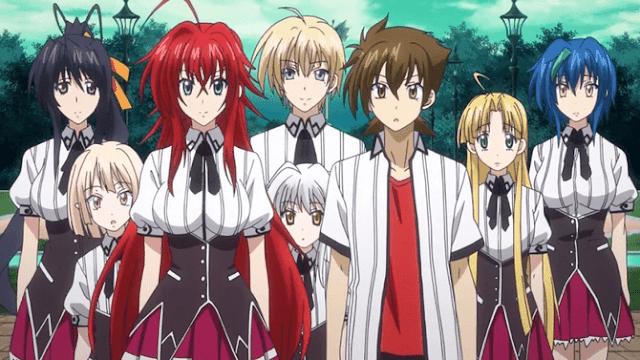 10 Rekomendasi Anime Bertema Raja Iblis - High School DxD