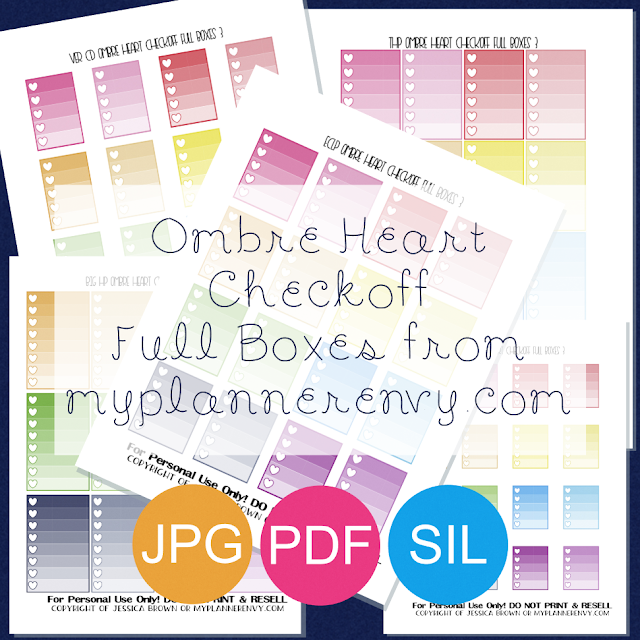 Free Printable Ombre Heart Checkoff Full Boxes from myplannerenvy.com