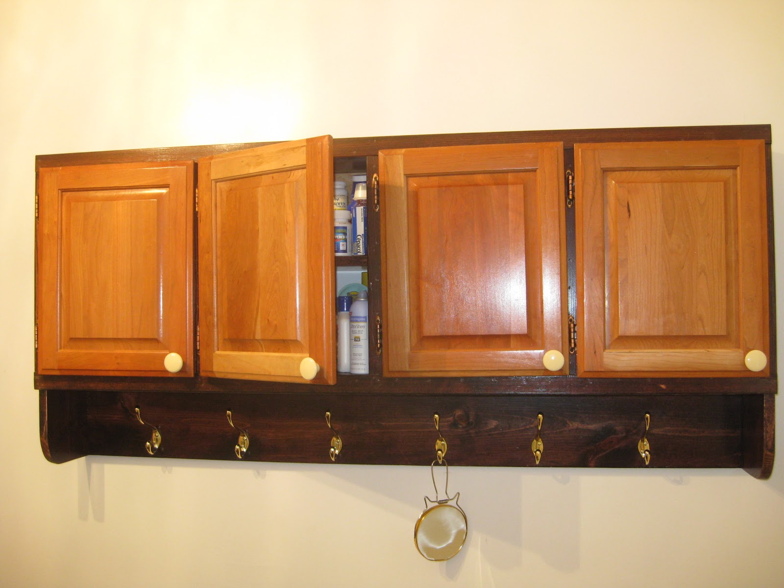 Life in old spokane home workshop for simple woodworking - Bathroom wall cabinet with towel bar ...