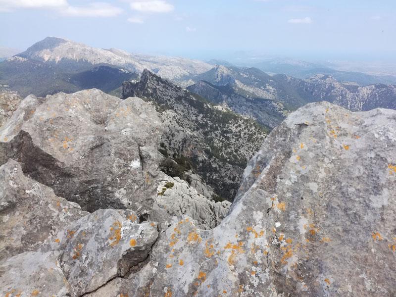 Vista dalla cima del Puig de n'Ali