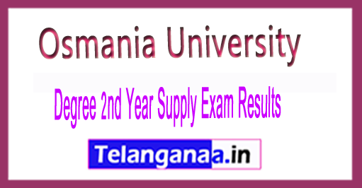 (BA/BCom/BSc) IInd Year Supply Exam Results