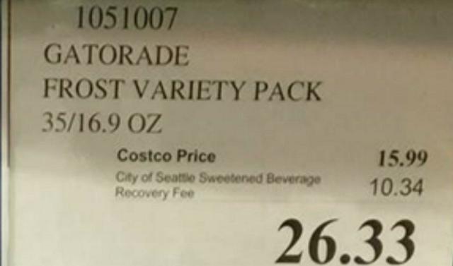 Soda Tax Sticker Shock Grips Seattle
