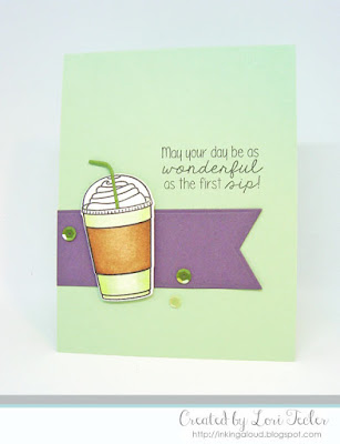 The First Sip card-designed by Lori Tecler/Inking Aloud-stamps from Lil' Inker Designs