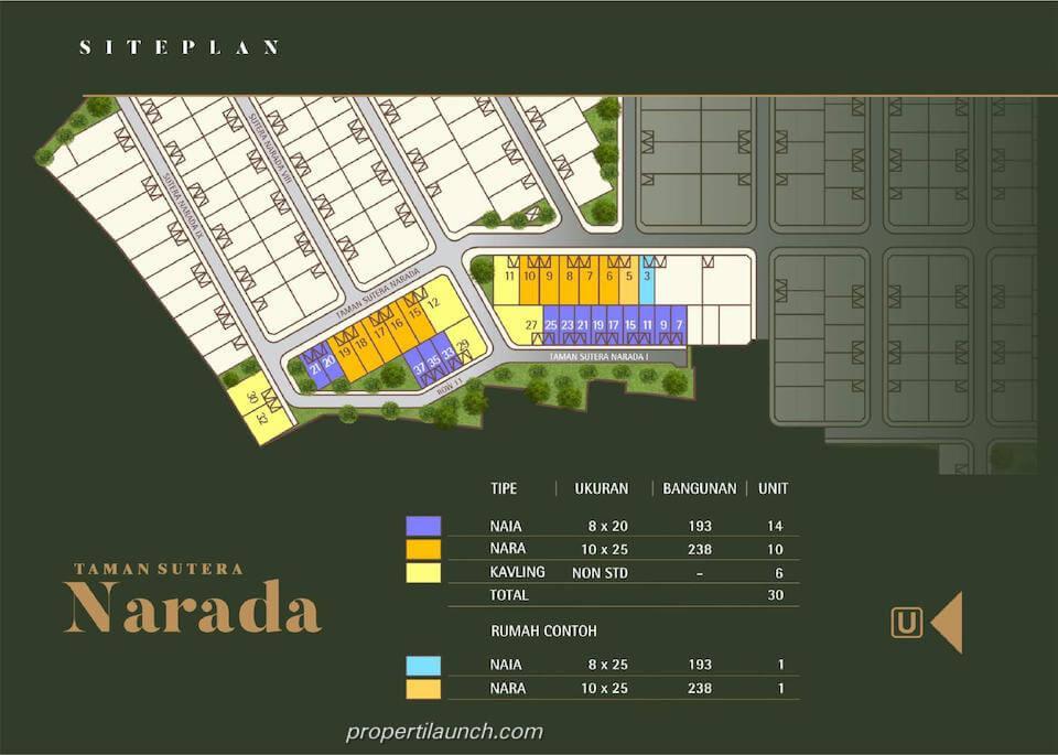 Site Plan Sutera Narada Extension Alam Sutera
