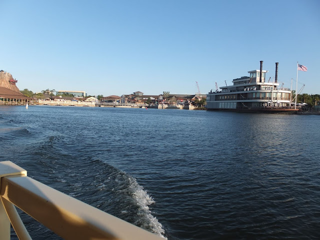 View of water at Disney Springs from boat cruise