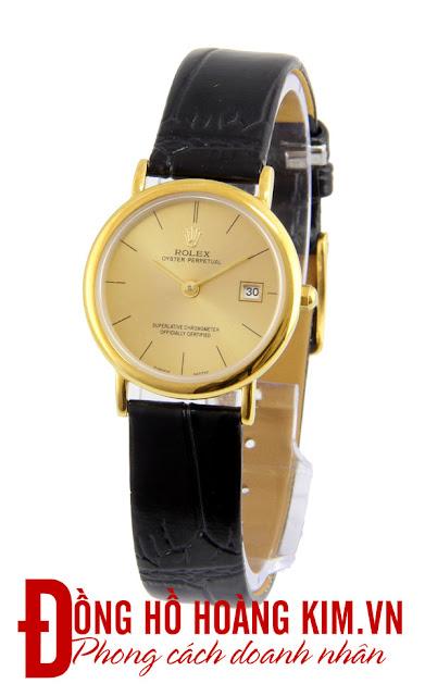 Đồng hồ đeo tay nữ Rolex dây da giá rẻ dưới 1 triệu
