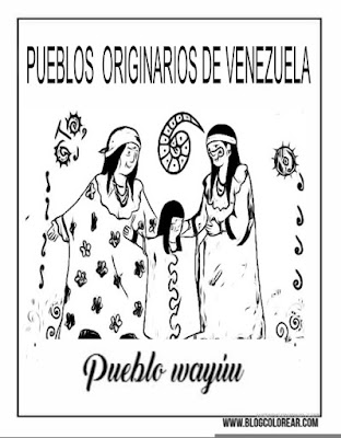 colorear pueblo Wayúu