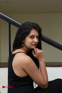 Actress Nikita Bisht Pictures in Black Long Dress at Akritti Elite Exhibition Launch  0057.jpg