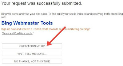 sign up on bing webmaster tools free