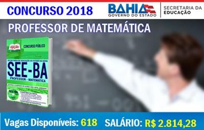 Concurso Público SEE-BA 2018 Professor de Matemática