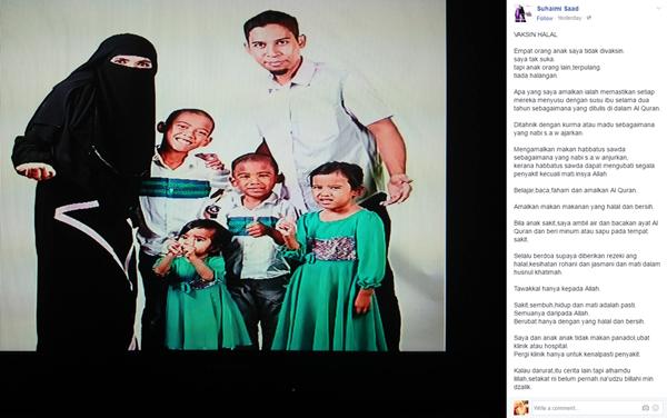 Status Bekas Ahli Kumpulan In team Cetus Perhatian Netizen Apabila 'Bangga' Anak Anti Vaksin!