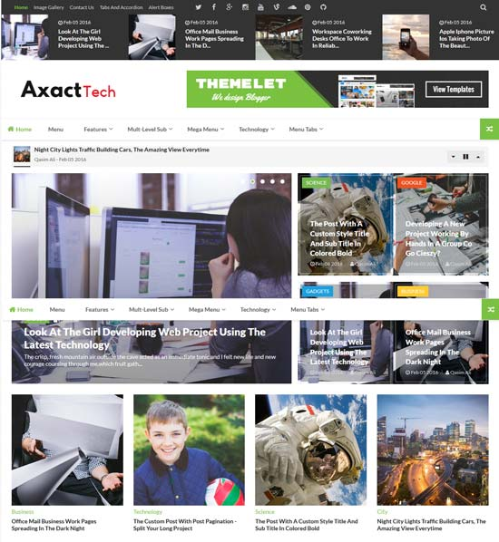 Axact Responsive blog website templates Cool Templates For Blogger
