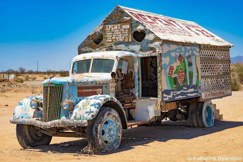 Salvation Mountain Truck Salton Sea Ghost Towns Photography