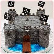 Tarta modelada castillo