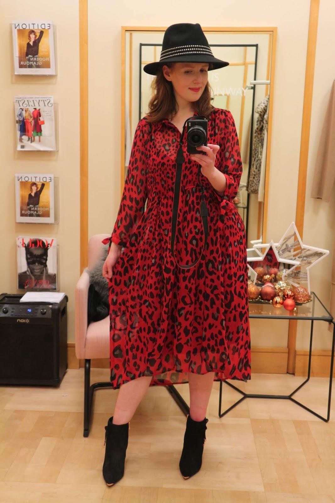 mint velvet animal print dress