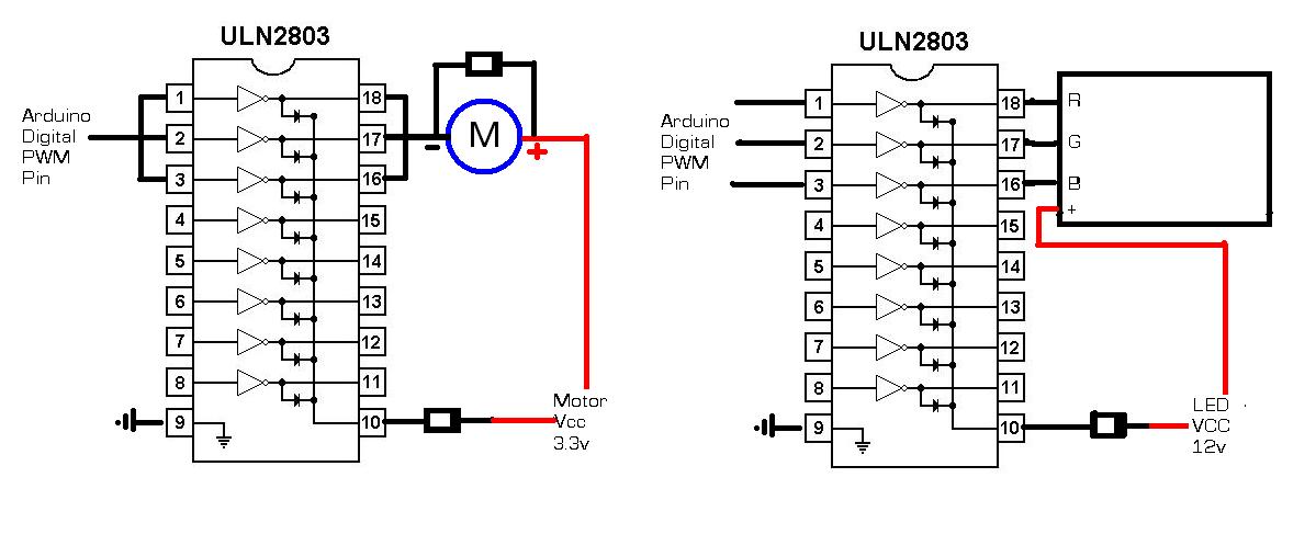Digitalduino: Arduino + ULN2803