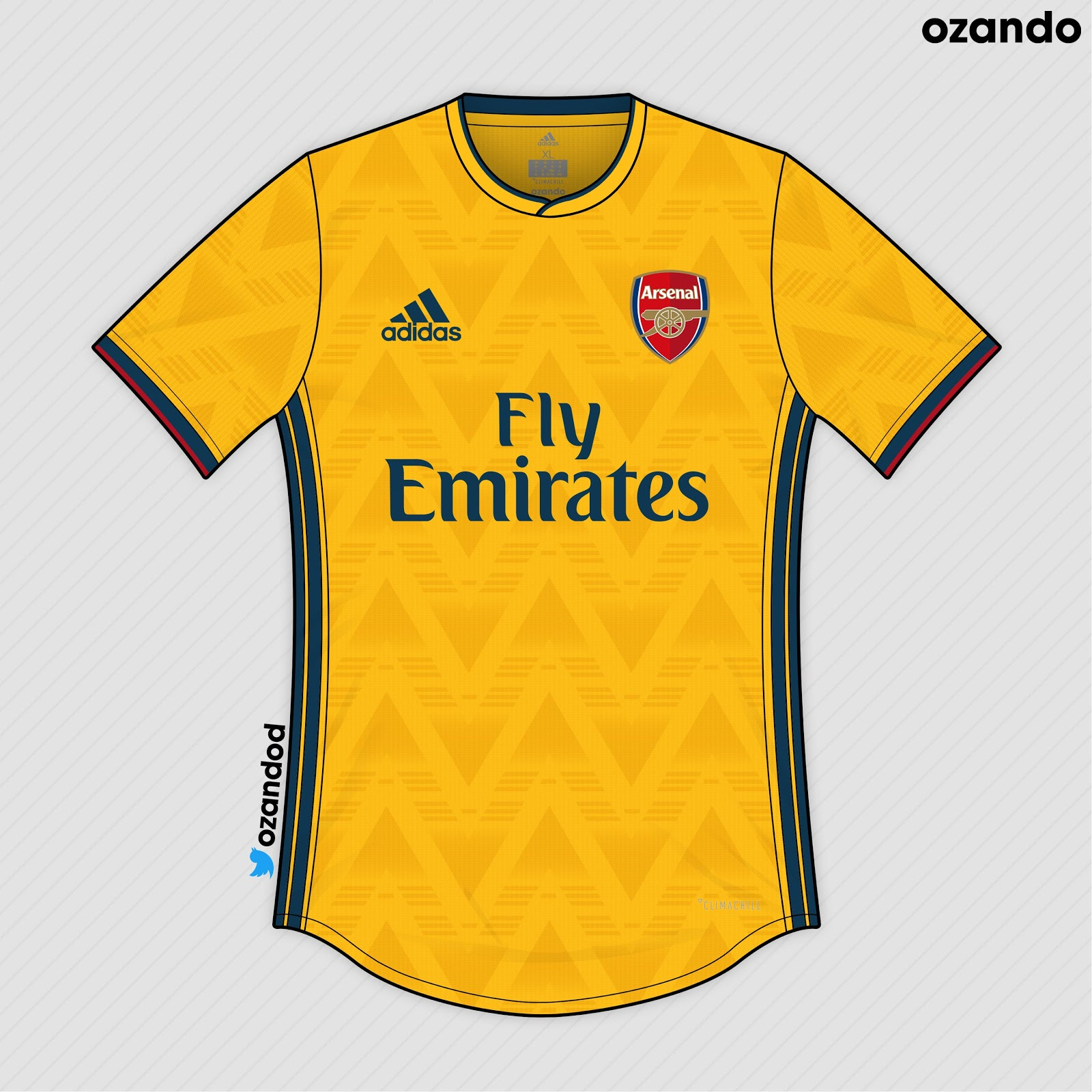 watch a4a1c 3e158 Adidas Arsenal 19-20 Home, Away & Third Concept Kits by ...