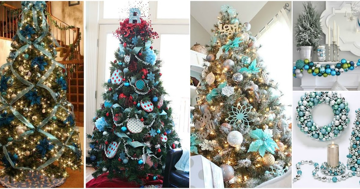 14 ideas para decorar rboles navide os en tonos azules - Decoracion para arboles navidenos ...