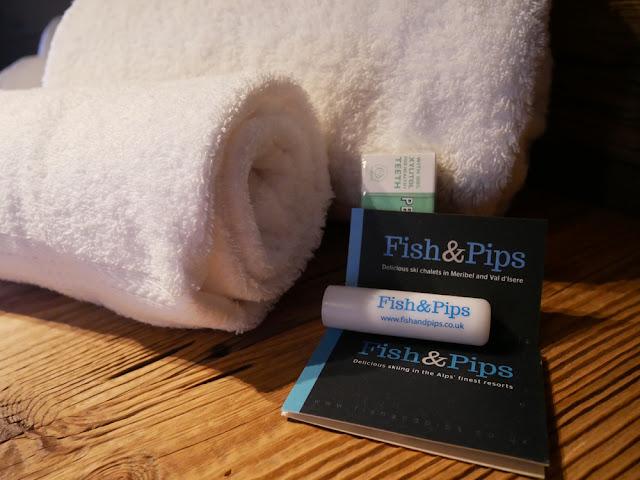 Fish and Pips lip balm and fresh towels - Chalet Braye, Meribel Village