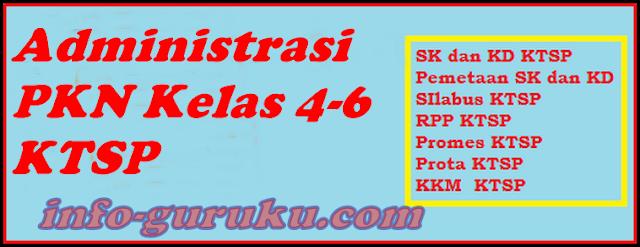 Download Administrasi PKN Kelas 4-6 Kurikulum KTSP