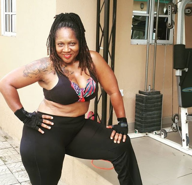 'I'm Doing It To Keep My Marriage Intact - Wife Of Veteran Singer Charley Boy, Madam Diane Oputa , 58, Returns To Gym