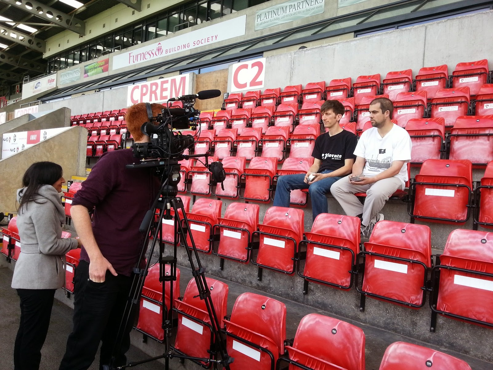 Pie filming with BBC Sport