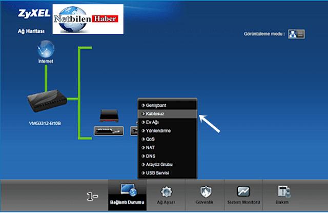 zyxel modem arayüz giriş