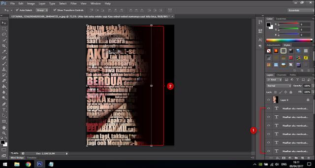 Cara Membuat Text Portrait Pada Wajah (Typography) 15