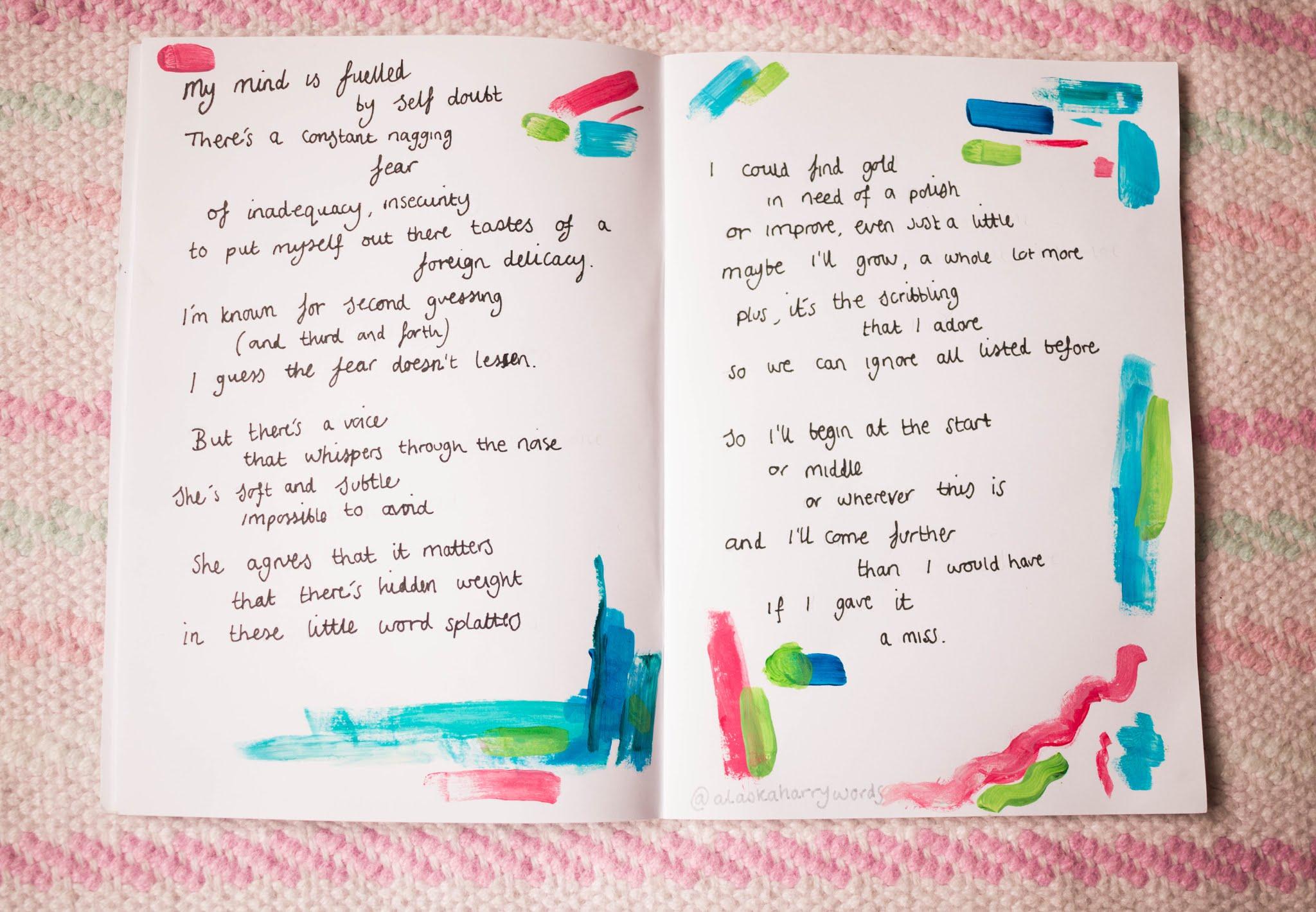 Poem written by Chloe Harriets