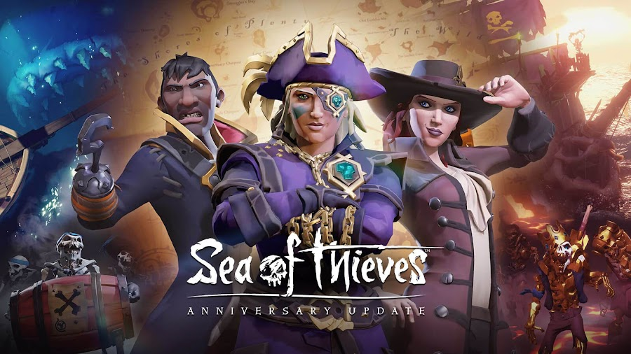sea of thieves free anniversary update release date rare studio xb1