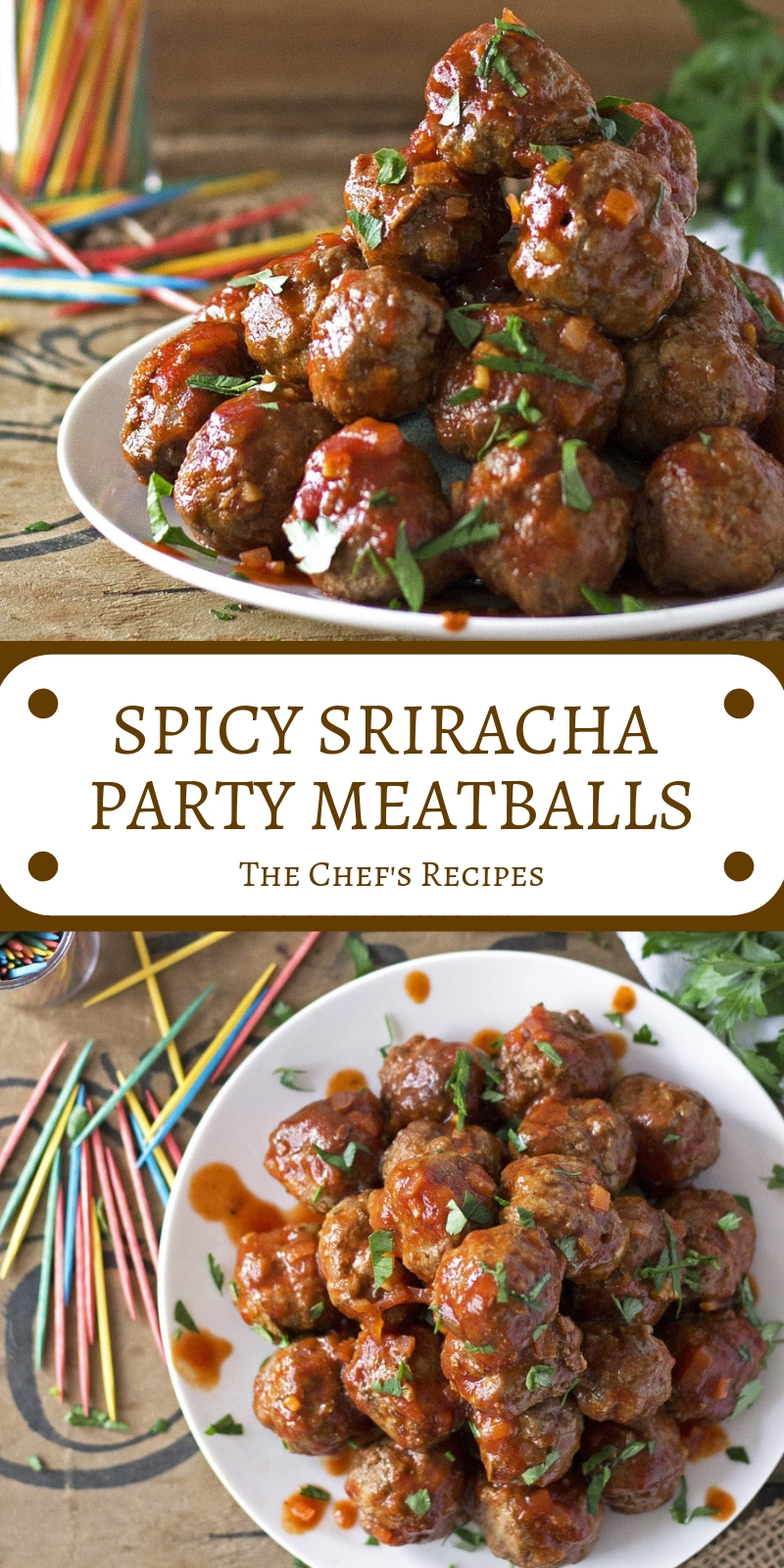 SPICY SRIRACHA PARTY MEATBALLS
