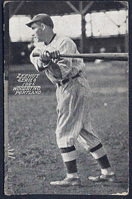 Woody Woodring 1925 baseball card Portland Beavers https://jollettetc.blogspot.com