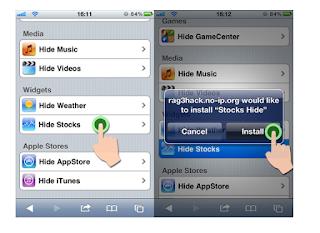 Hide Stock app