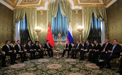 Russian-Chinese talks in the Kremlin.