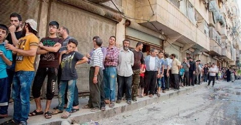 Demi Sepotong Roti, Warga Aleppo Rela Mengantri Berjam-Jam